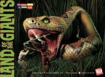 Land Of The Giants Snake Scene 1/48 Model Kit